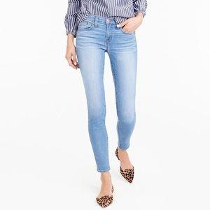 "j. crew toothpick denim | 8"" rise skinny jeans"